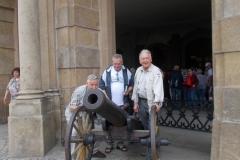 Wałbrzych, działo na murach zamku Książ